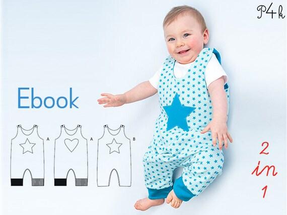 Schnittmuster Baby Overall Strampler Babyanzug Erstling | Etsy