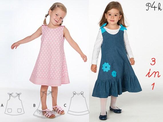 Schnittmuster Hängerchen Baby Tunika Schürzenkleid Sommer | Etsy