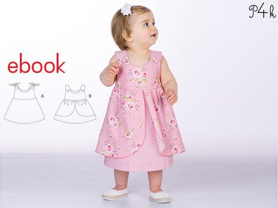 Schnittmuster Hängerchen Babykleid Mädchenkleid Kleidchen   Etsy
