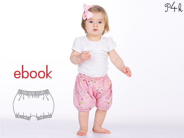 Baby bloomers pattern, shorts, kids pants patterns, easy sewing ...