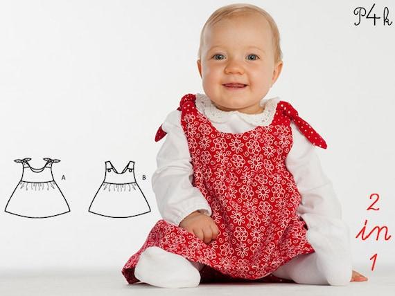 Schnittmuster Baby Hängerchen Kleid Tunika Schürzenkleid   Etsy