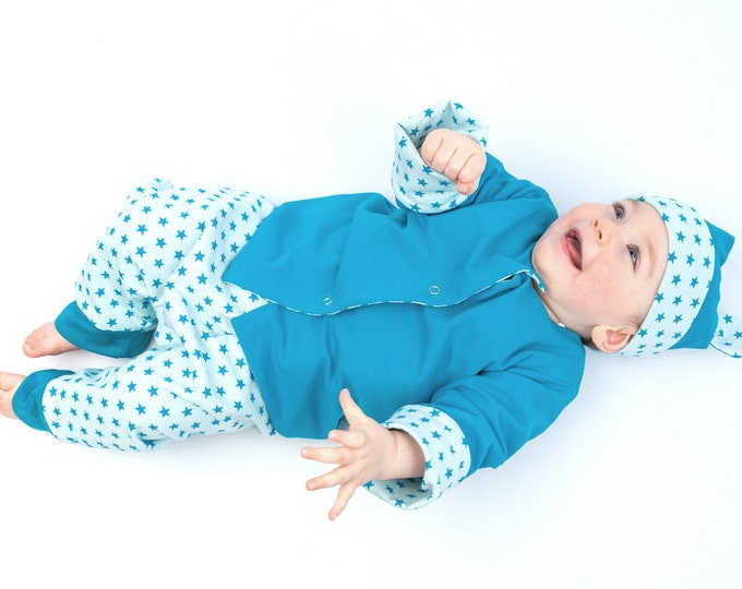 Baby jacket, overall and beanie bundle for toddler sewing pattern ALBERTO FLAVIO ORSO by Patternforkids