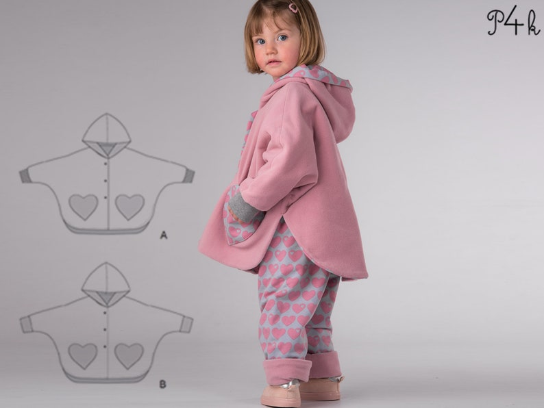 817febfcb Girls baby bundle poncho easy pants sewing pattern pdf.