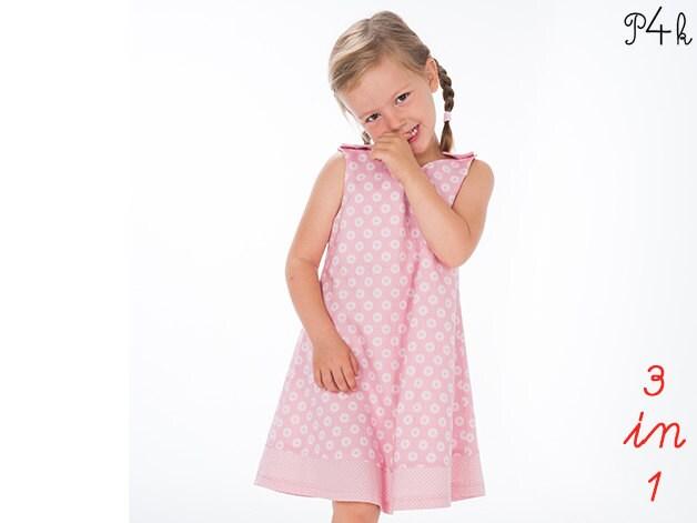 Girls pinafore dress sewing pattern, girls dress pattern, baby dress ...
