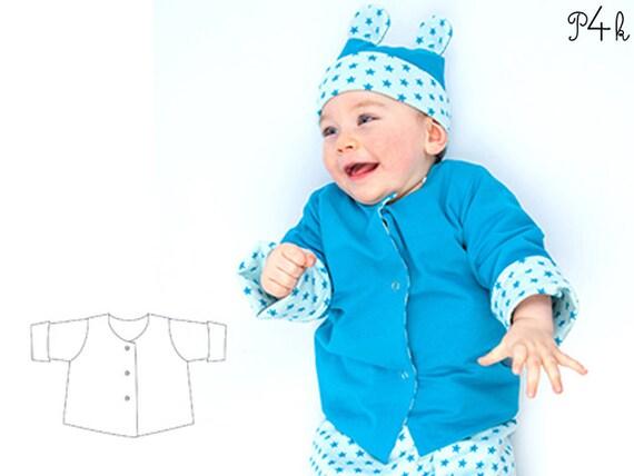 Schnittmuster Babyjacke Wickeljacke Baby Wendejacke | Etsy
