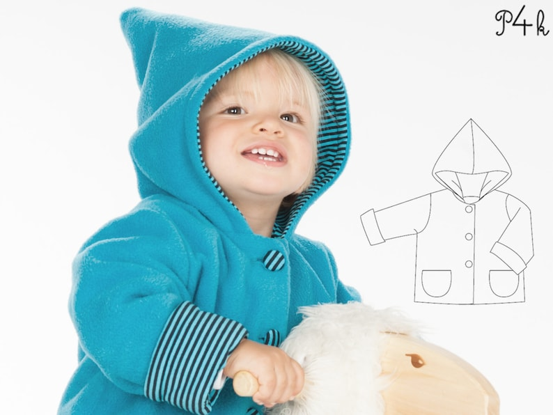 0f40bbbe7 Lined baby jacket sewing pattern pdf for boys and girls.