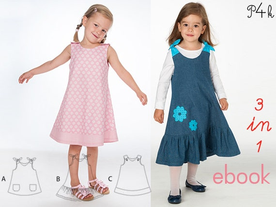 Schnittmuster Babykleid Tunika Hängerchen Kleidchen | Etsy
