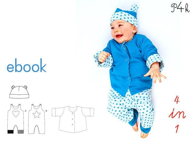 Schnittmuster Babyset, Kinderset, Set für Baby oder Kind, Strampler ...
