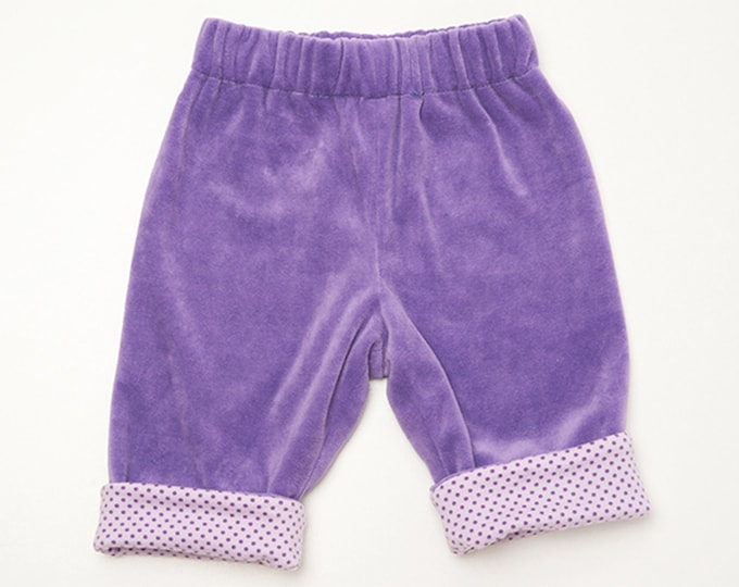 Baby pants pattern for boys + girls, lined yoga pants with elastic and hemline, easy, FIORETTO by Patternforkids