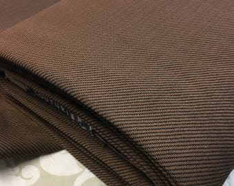 """Brown Diagonal Two Tone 62"""" Knit Suiting Fabric"""