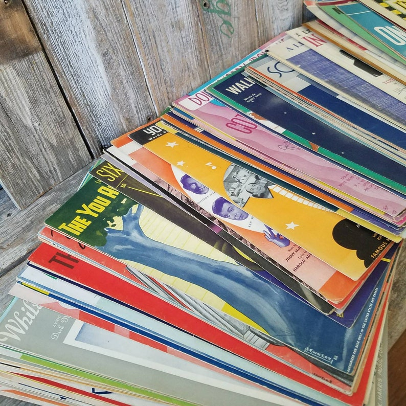 Vintage 3 Mystery Sheet Music Set of Three Sets, Vintage Sheet Music,  Scrapbooking and Crafts