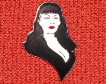 tura satana faster pussycat lapel enamel pin hipster jewelry brooch rockabilly