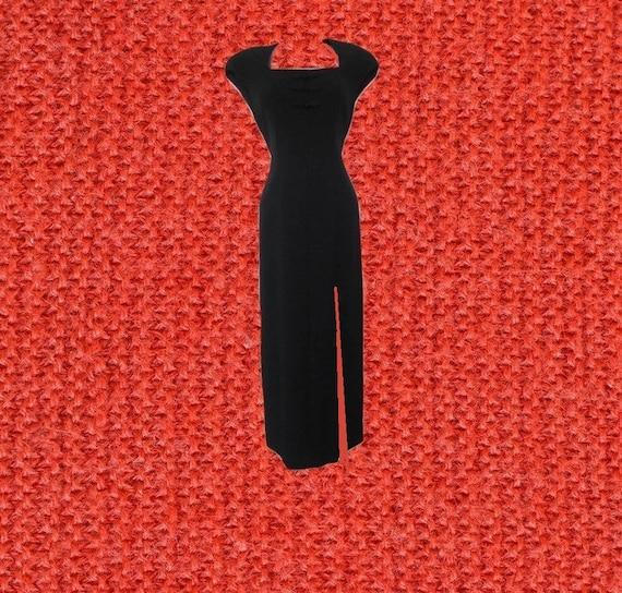 Liz Claiborne Plus Size Clothing Black High Slit Dress Sexy Etsy