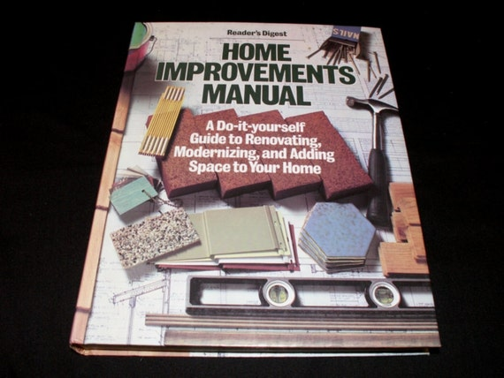 Vintage diy book home improvements manual by readers digest etsy solutioingenieria Gallery