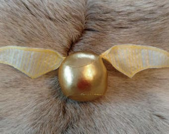 Handcrafted Golden Snitch with Rattle