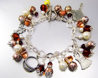 Chocolate Lover's Tennis Charm Bracelet