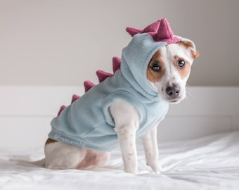 Dinosaur Dog Hoodie Dino dog clothes Warm Dog Sweater Custom Dog Hoodie Dog Jacket Mohawk Fleece Dog Hoodie Dog Coat : chihuahua dinosaur costume  - Germanpascual.Com