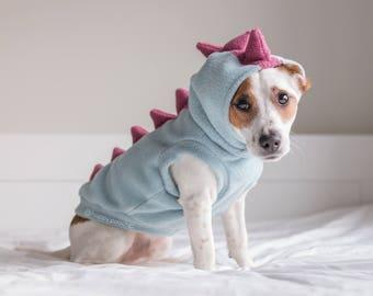 Dinosaur Dog Hoodie, Dino dog clothes, Warm Dog Sweater, Custom Dog Hoodie, Dog Jacket, Mohawk Fleece Dog Hoodie, Dog Coat