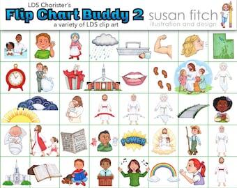 LDS Chorister's Flip Chart Buddy 2 clip art set