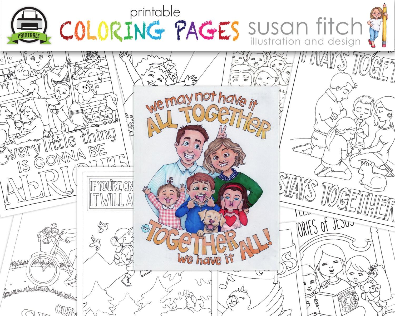 Páginas imprimibles para colorear | Etsy