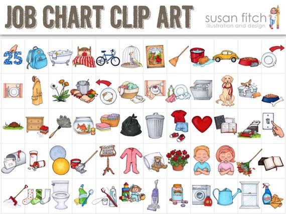 job chart chore chart clip art rh etsy com chore chart clipart free printable chore chart clipart