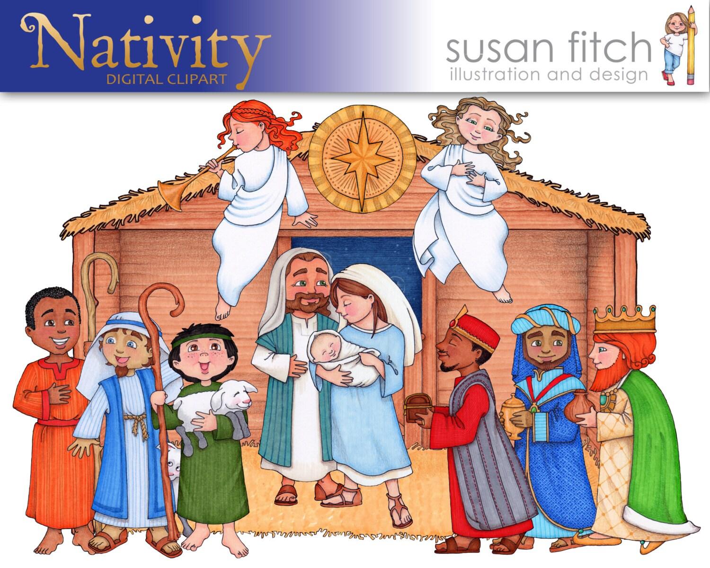 Christmas Nativity Digital ClipArt Set | Etsy
