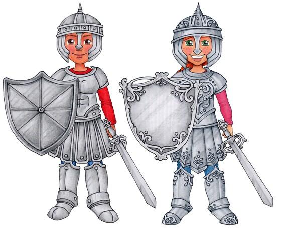 Conjunto de la armadura de Dios Clip Art & muñeca de papel | Etsy