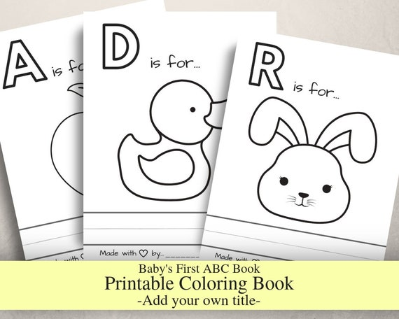 image relating to Abc Book Printable referred to as Babys Initial ABC Guide without having les, Kid Shower Recreation, Coloring E book, Printable PDF, Letter Dimensions, Prefilled Coloring web pages