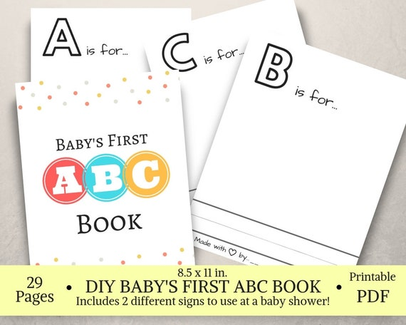 This is a photo of Abc Book Printable within coloring