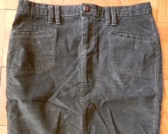 110fd43944 Retro 90's Old Navy Dark Brown Corduroy Mini Skirt Size 4