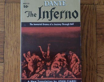 Vintage 60's The Inferno Dante Paperback Book 1960