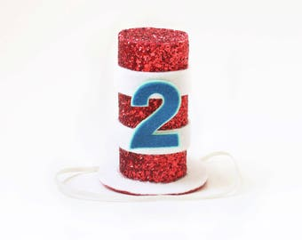 Cat In The Hat Party Hato 2nd Birthday Outfito Second Crown Boy Or Girlo Shirt Accesories Decor