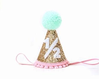 1 2 Birthday Girl Party Hat
