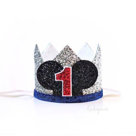 Corona de la fiesta de cumpleaños Mickey Mouse 1er | Etsy