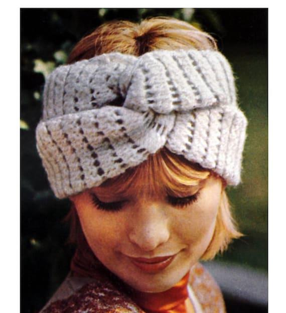 Patron pdf de tejido en crochet la banda para pelo turbante | Etsy
