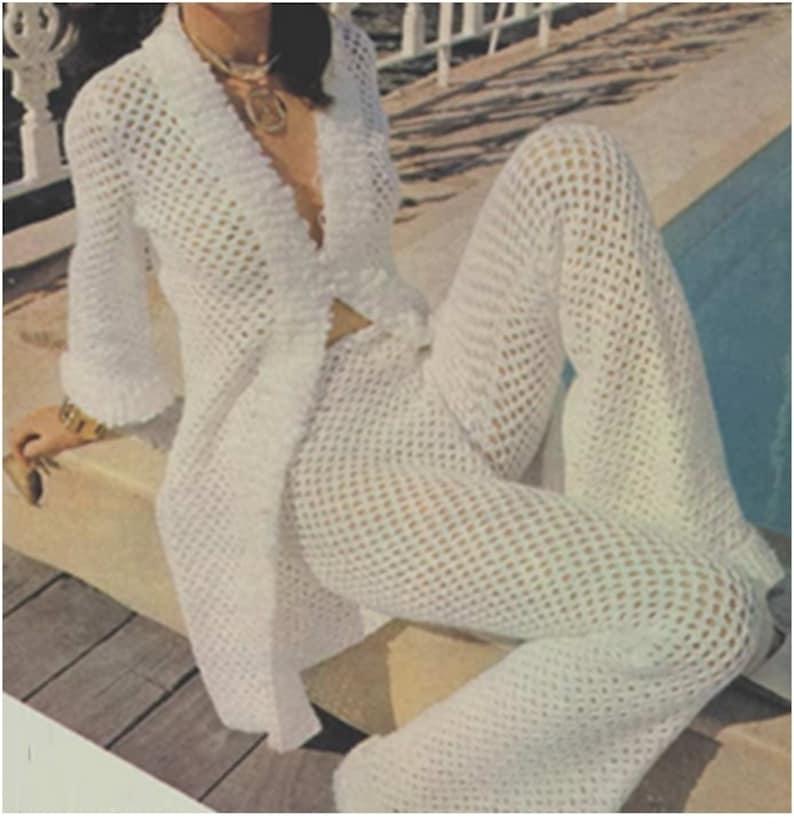 Vintage Crochet Pattern 70s Crochet Top Pattern And Crochet Etsy