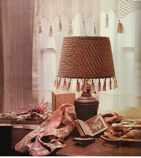 Crochet Lampshade Cover Pattern Crochet Lamp Shade Vintage Etsy