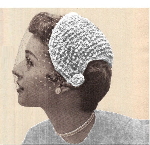 Patron pdf de los anos 50s crochet velo de novia a crochet | Etsy