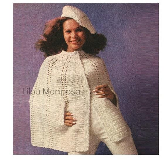 Patron pdf de tejido en crochet poncho sueter capa de tejido y | Etsy