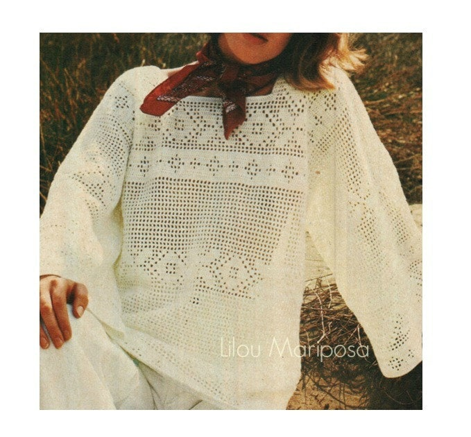 Patron de crochet pdf de tejido crochet blusa top | Etsy