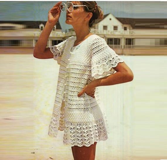 Patron pdf de tejido en crochet vestido para playa | Etsy