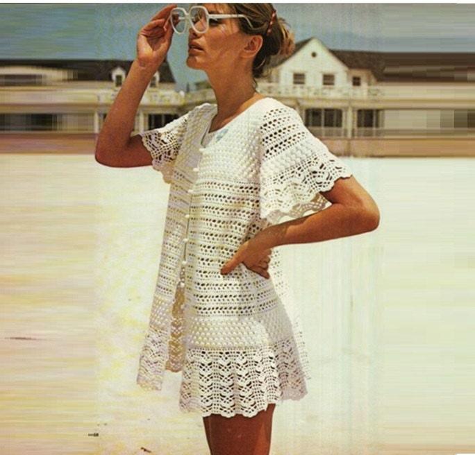 Crochet Pattern Vintage 70s Crochet Dress Pattern Crochet Top | Etsy