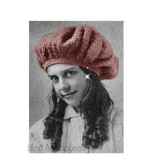Patron pdf de tejido en crochet para el gorro bonnet boina | Etsy
