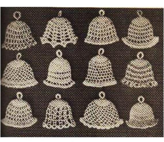 Crochet Christmas Bell Ornaments Pattern Crochet Ornament Etsy