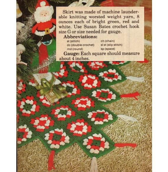 Patron de crochet 70s pdf de tejido CROCHET falda para arbol | Etsy