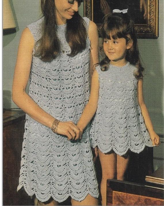 Patron de tejido crochet 70s patron pdf de tejido vestido | Etsy