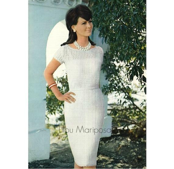 Crochet Dress Pattern Vintage 60s Crochet Wedding Dress Etsy