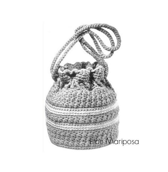 Patron pdf de tejido en crochet la bolsa de crochet de los | Etsy