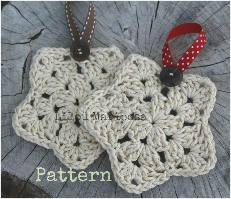 Crochet Christmas Star Ornament Pattern Crochet Ornament Etsy