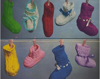 Baby Booties Pattern Vintage 70s Crochet Baby Shoes Pattern Crochet Baby Socks Pattern Crochet Baby Slippers Pattern